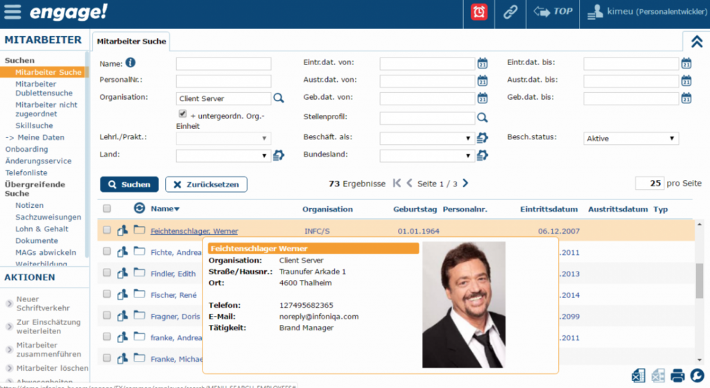 digitale Personalakte infoniqa